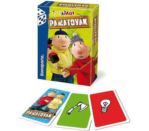 Pamatovák Pat a Mat postřehová karetní hra v krabičce