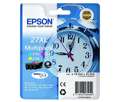 EPSON Multipack 3-colour 27XL DURABrite Ultra Ink