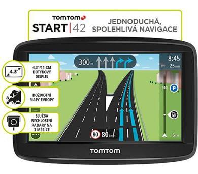 TomTom START 42 Regional CEE LIFETIME mapy