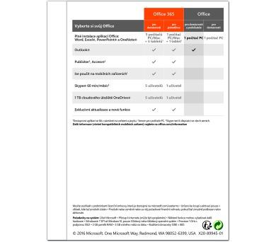 Office 2016 pro domácnosti a podnikatele SK
