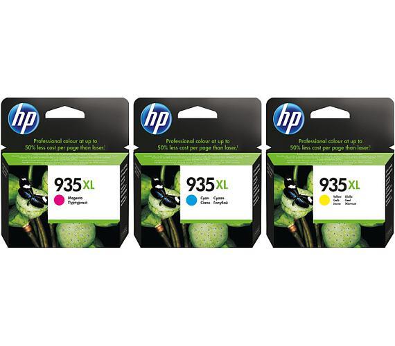HP 935XL pack C/M/Y + 75 listů A4