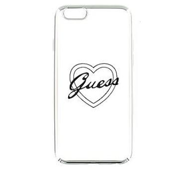 Guess Signature TPU Pouzdro Heart Silver pro iPhone 5/5S/SE