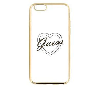 Guess Signature TPU Pouzdro Heart Gold pro iPhone 6/6S