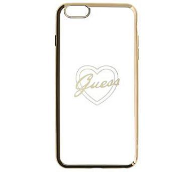 Guess TPU Pouzdro Heart Gold pro iPhone 6/6S Plus