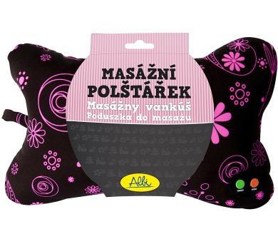Masážní polštář s růžovými květy