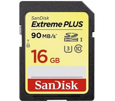 Sandisk SDHC Extreme Plus 16GB UHS-I U3 (90R/60W)