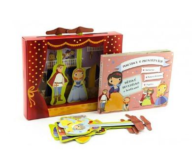Pohádky o princeznách - Dětské divadélko/divadlo s loutkami v krabičce + DOPRAVA ZDARMA