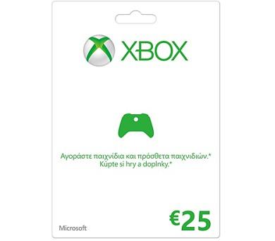 XBOX LIVE Předplacená karta LIVE 25 EUR