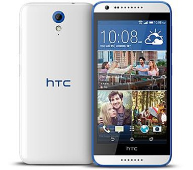 HTC Desire 620 SS gsm tel. Gloss White/Blue Trim