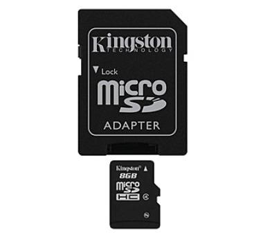 Kingston MicroSDHC 8GB Class4 + adapter