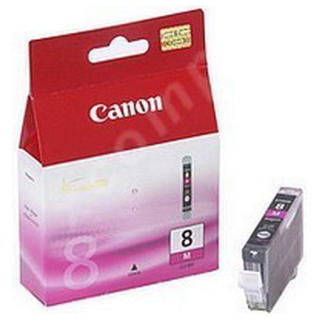 Inkoustová náplň Canon CLI-8M, 420 stran originální - fialová
