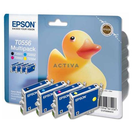 Epson T0556, 8ml originální -černá/červená/žlutá (foto 1)