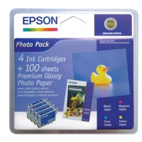 Epson T0556, 8ml originální -černá/červená/žlutá (foto 2)