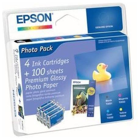 Epson T0556, 8ml originální -černá/červená/žlutá (foto 3)