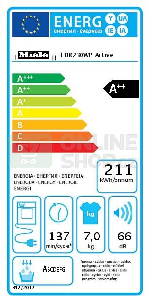 Sušička prádla Miele TDB230WP Active