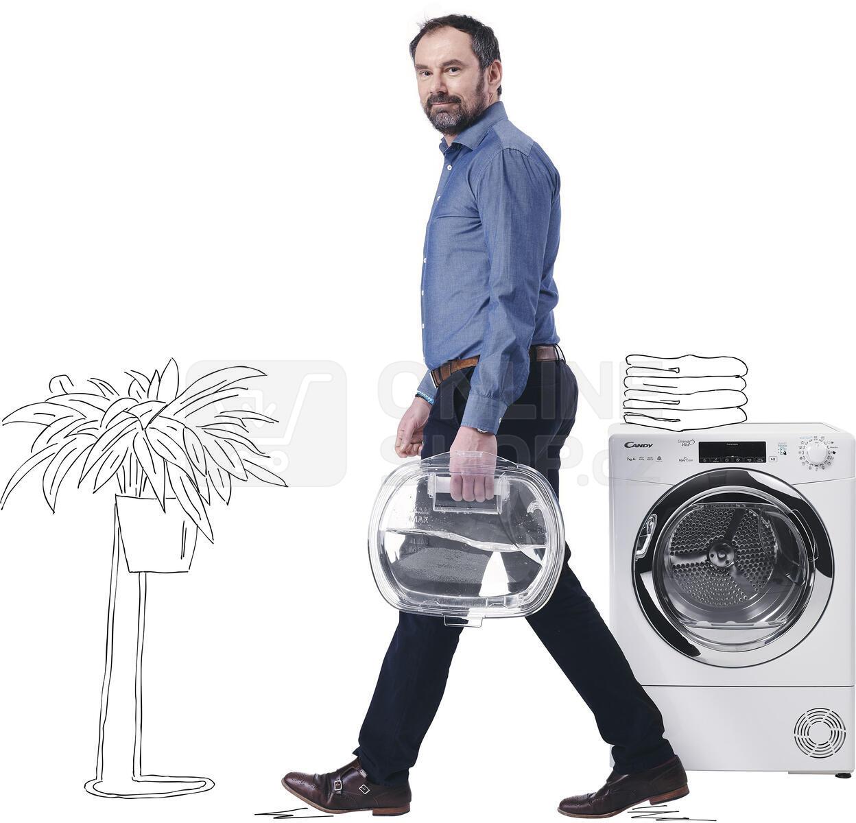 Sušička prádla Candy GVS4 H7A1TCEX-S SLIM