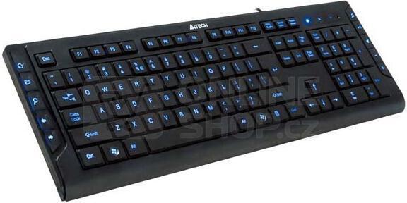 A4tech multimediální klávesnice KD-600L modře podsvícená, CZ/US, USB
