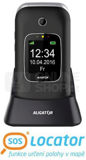 ALIGATOR V650 Senior černo-stříbrný + stolní nabíječka (AV650BS)
