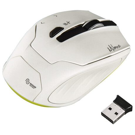 HAMA myš Milano/ bezdrátová/ optická/ 2400 dpi/ 6 tlačítek/ USB/ bílá (53945)