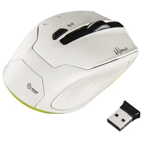 HAMA myš Milano/ bezdrátová/ optická/ 2400 dpi/ 6tlačítek/ USB/ bílá (foto 2)