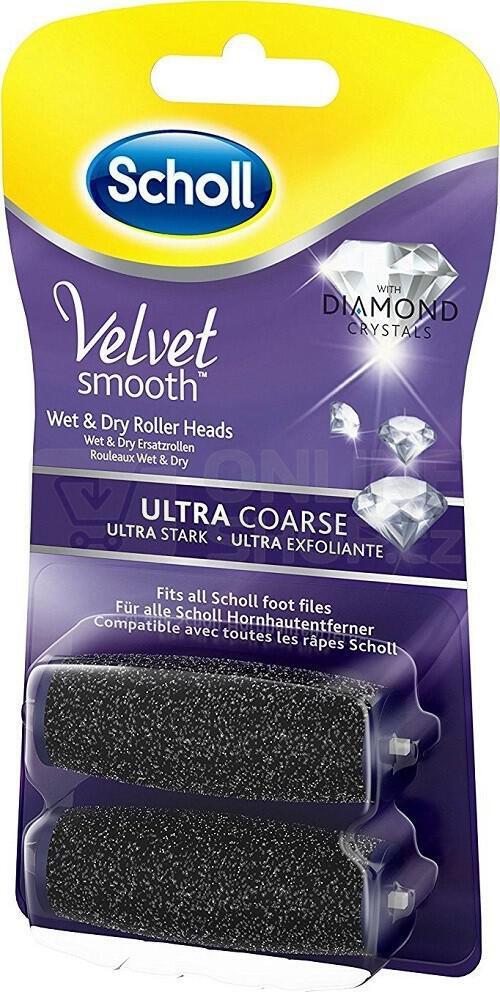 Scholl Velvet Smooth náhradní hlavice - extra hrubá, 2 ks
