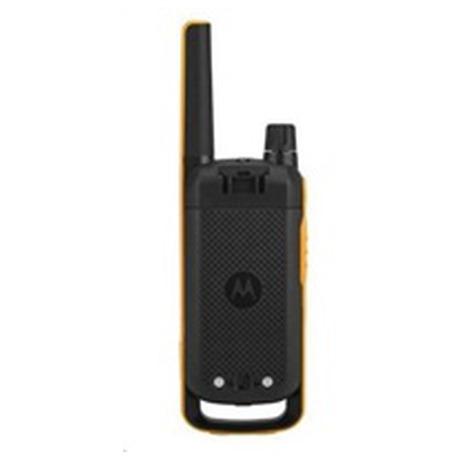 Motorola vysílačka TLKR T82 Extreme (2 ks, dosah až 10 km), IPx4, černo/žlutá (D8P00811YDEMAG)