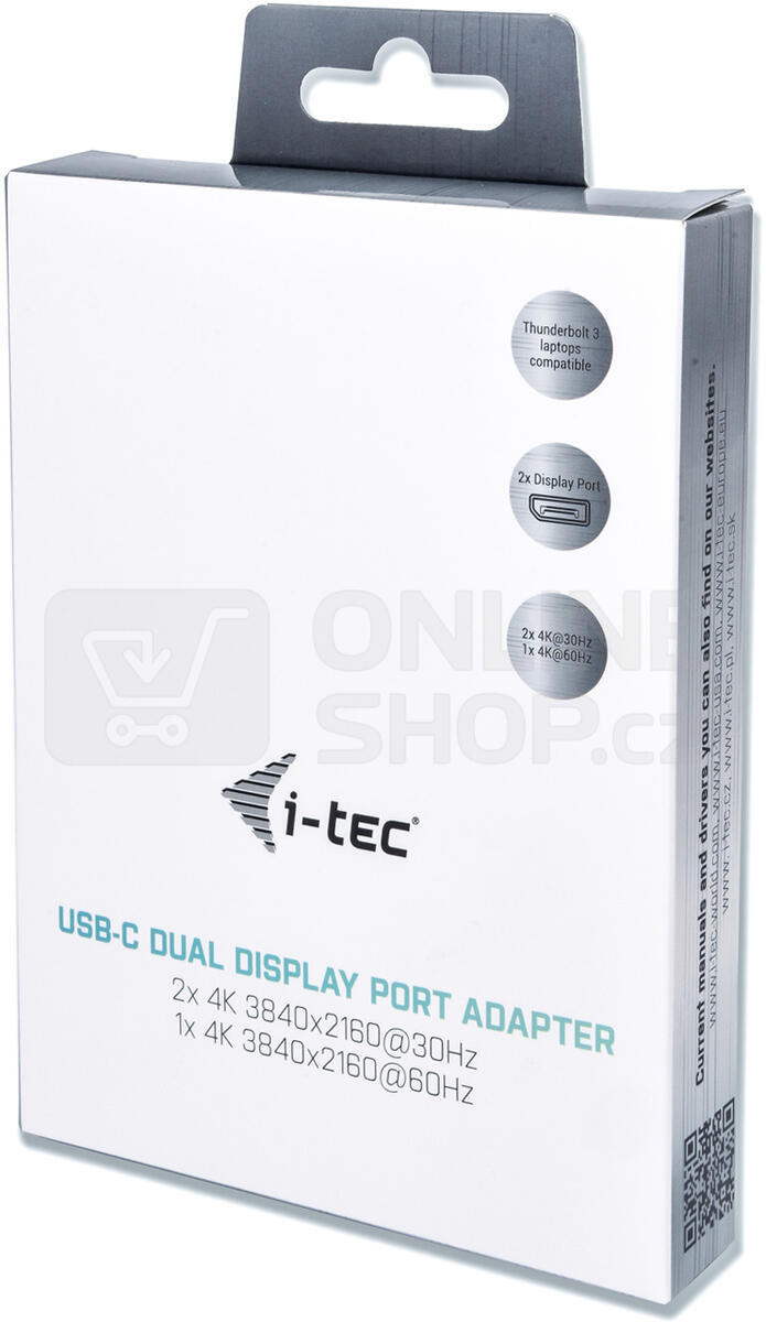 i-tec USB 3.1 Type C na Dual Display Port adaptér/ 2x Display Port 4K/ kompatibilní s Thunderbolt 3 (C31DUAL4KDP)