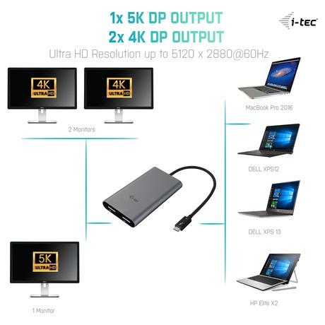 i-tec THUNDERBOLT 3Dual Display Port adaptér 4K/ 2xDisplay Port 4K (foto 3)