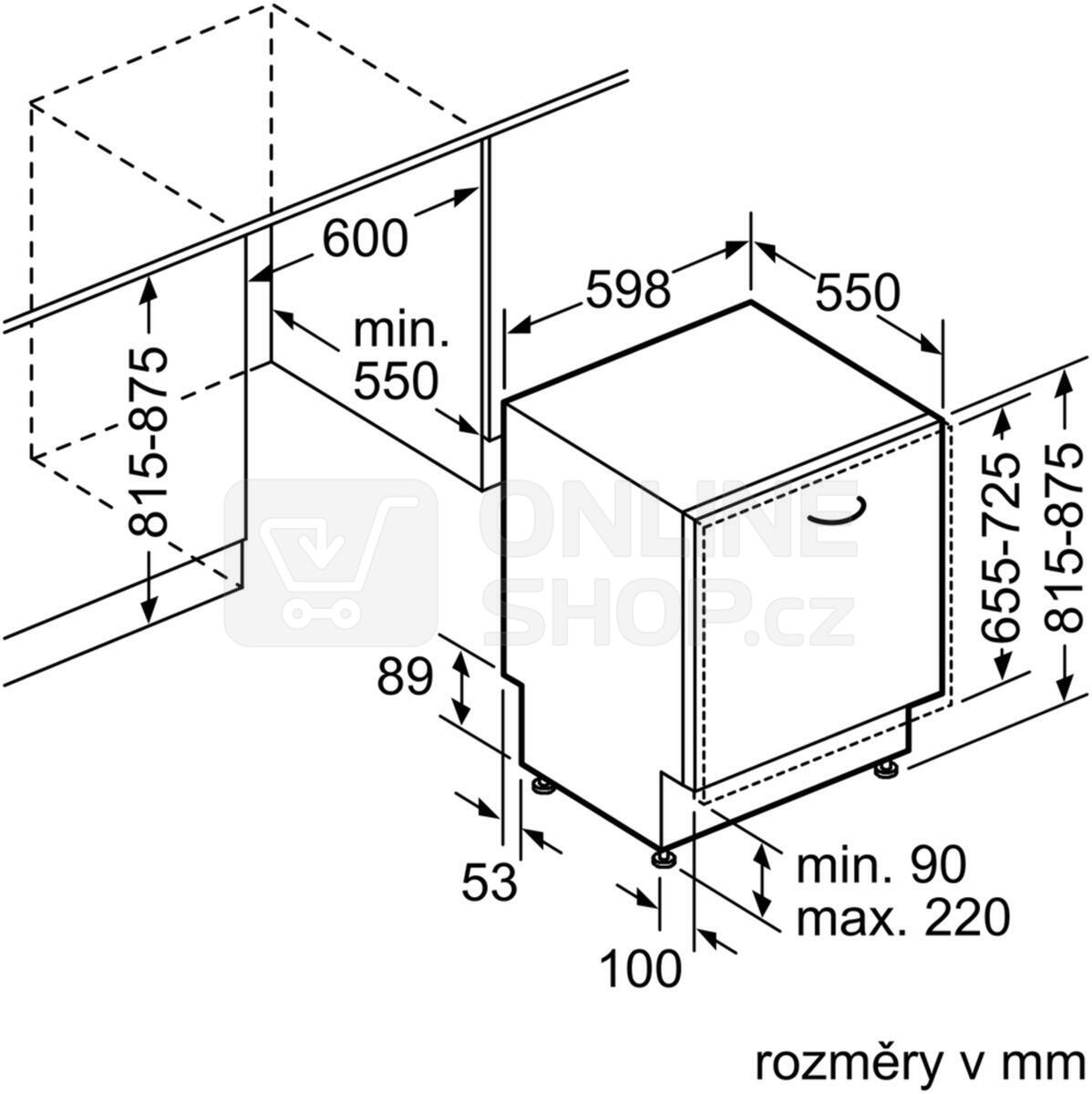 Myčka nádobí Bosch SMV25AX01E vestavná