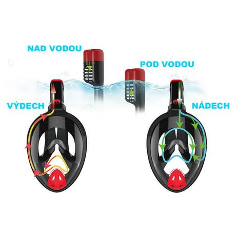 Celoobličejová potápěčská maska se šnorchlem Acra P1501L-SE