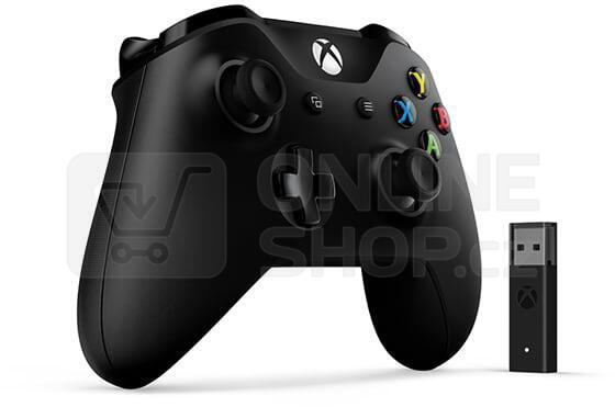 XBOX ONE Wireless Controller Black + adapter pro Windows (4N7-00002)