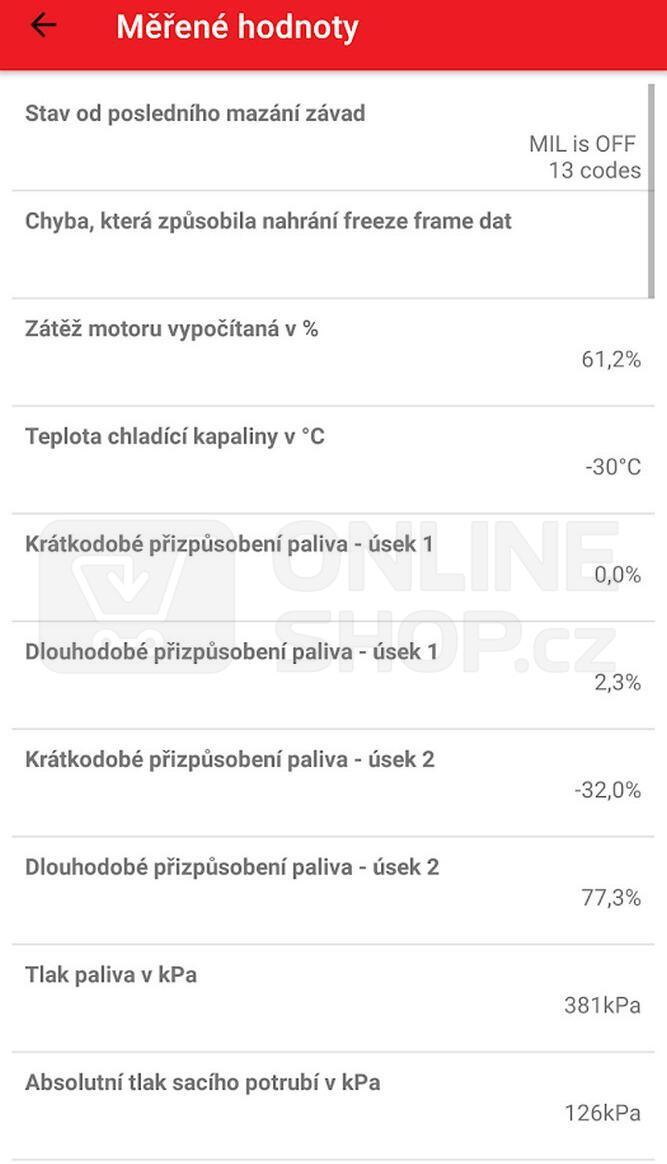 Autodiagnostika SX1 bluetooth bílá, Android, Windows (SX OBD aplikace) SIXTOL