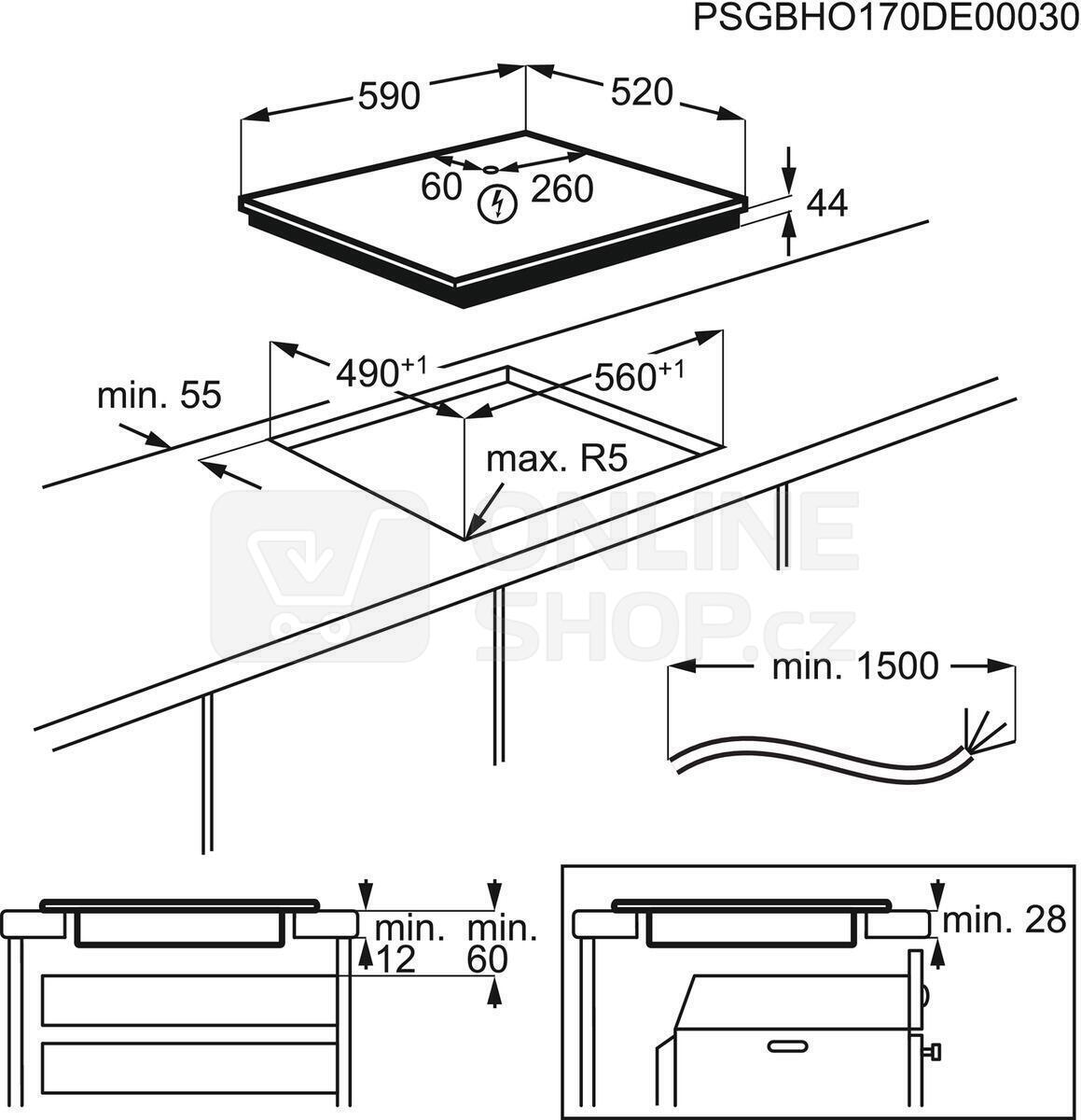 SET Trouba Electrolux EOB6220AOR + Indukční deska ELECTROLUX 300 CIR60430CB