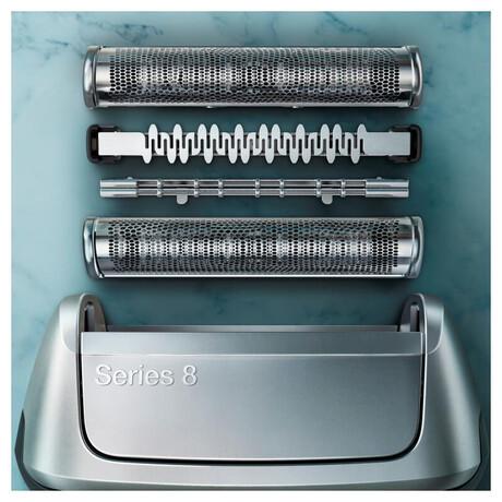 Holící strojek Braun Series 8 8350s stříbrná/modrá