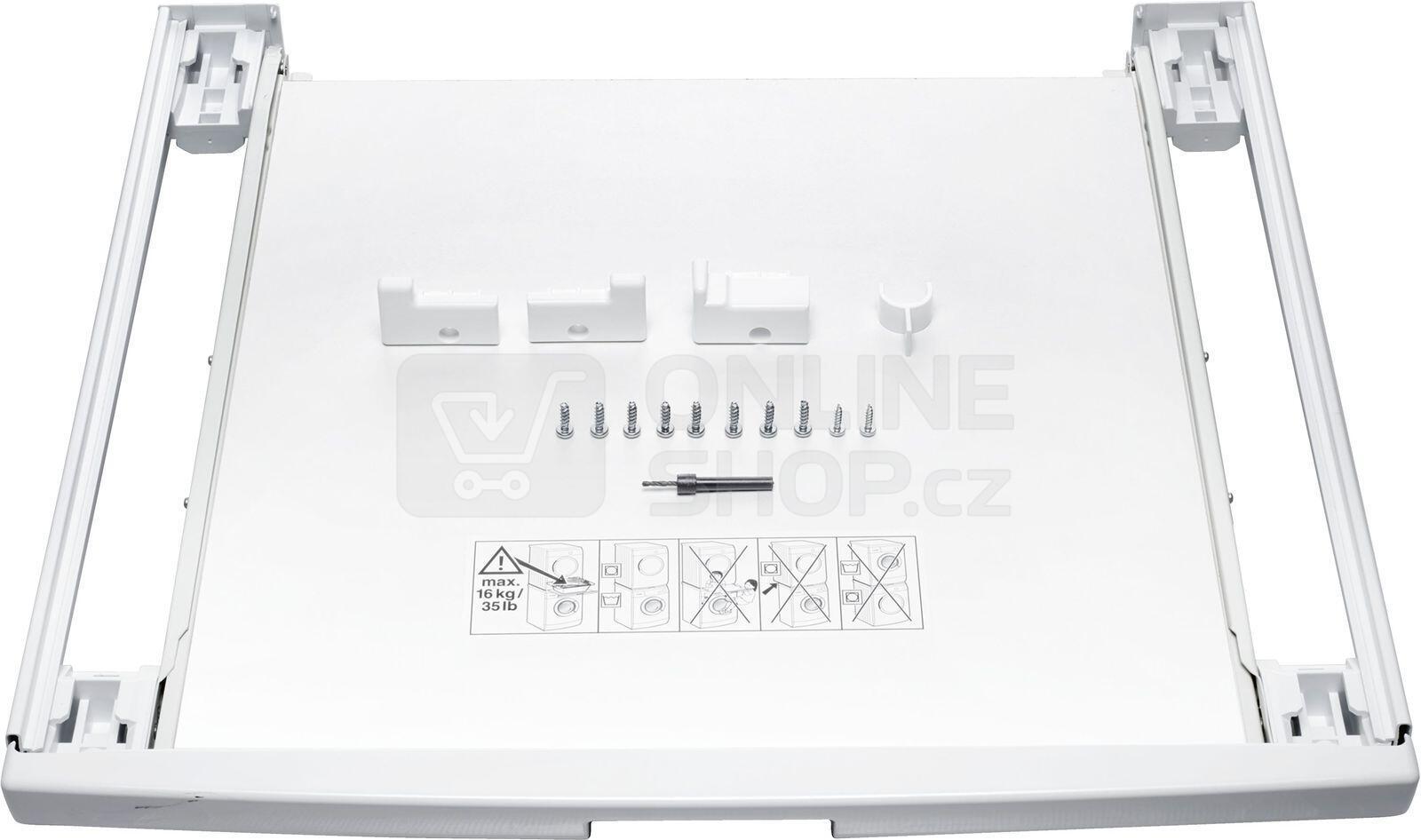 Mezikus Bosch WTZ11400 spojovací sada s výsuvem pro pračky a sušičky Bosch