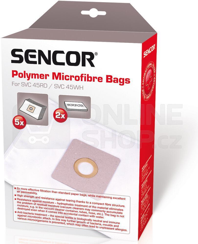 Sáčky do vysavače - 5ks Sencor pro SVC 45/52
