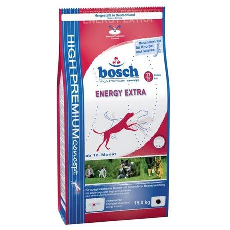 Granule BOSCH Energy Extra 15 kg, pro dospělé psy - BOSCH Energy Extra 15 kg, pro dospělé psy (foto 1)