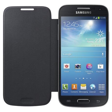 Pouzdro na mobil flipové Samsung pro Galaxy S4 mini (EF-FI919BB) - černé - Samsung pro Galaxy S4 mini (EF-FI919BB) - černé (foto 3)