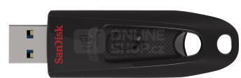 Flash USB Sandisk Cruzer Ultra 64GB USB 3.0 - černý