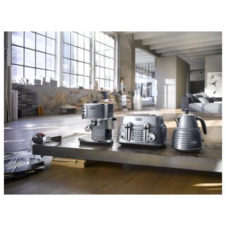 Varná konvice DeLonghi KBZ 2001 GY ocelově šedivá - DeLonghi KBZ 2001 GY ocelově šedivá (foto 4)