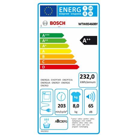 Bosch WTW85460BY (foto 6)