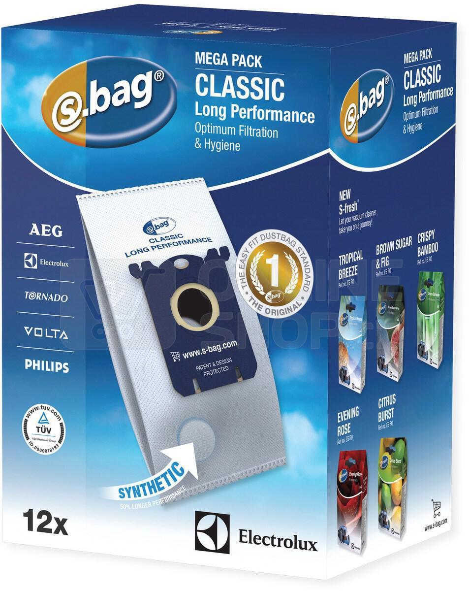 Sáčky do vysavače Electrolux E201 M (Long Performance s-bag) 12ks