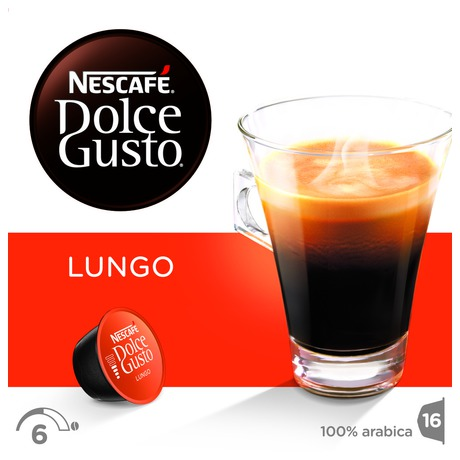 Kapsle NESCAFÉ Caffe Lungo 16 ks k Dolce Gusto
