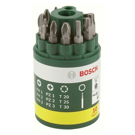 Sada Bosch 10 dílná šroubovacích bitů - Bosch 10dílná šroubovacích bitů (foto 1)