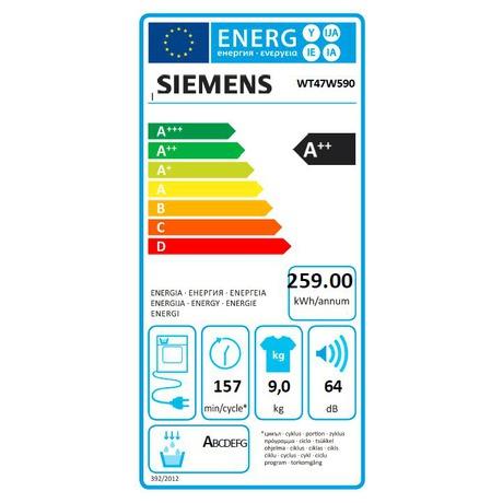 SET Siemens WM16Y891EU + Siemens WT47W590