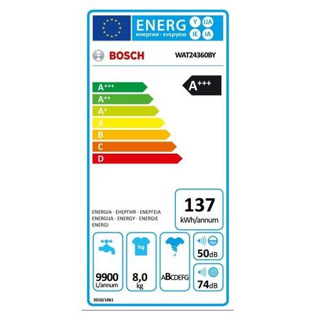 Bosch WAT24360BY + Sušička Bosch WTW87467CS (foto 10)