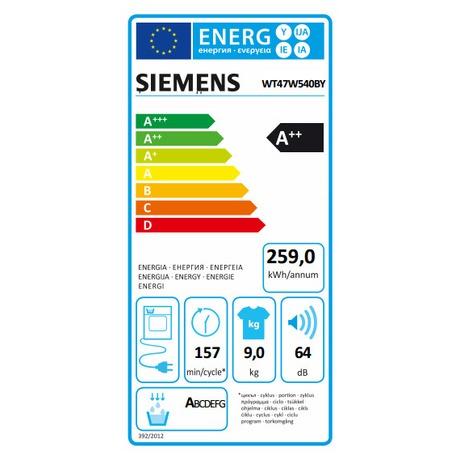 Siemens WT47W540BY kondenzační (foto 6)