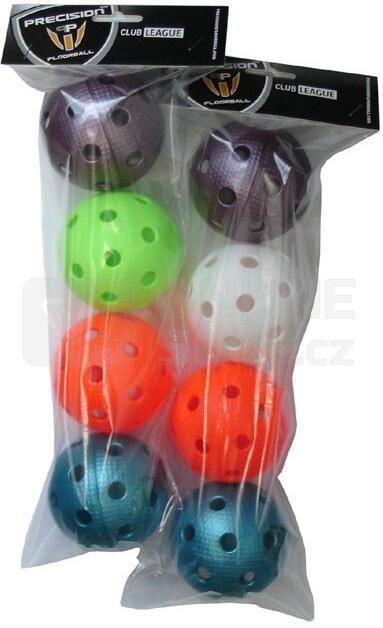 ACRA Florbalové míčky certifikované - 4 ks v sáčku