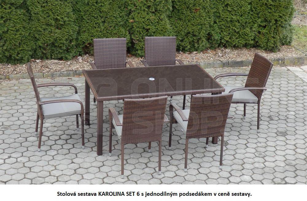 Zahradní nábytek V-Garden KAROLINA SET 6