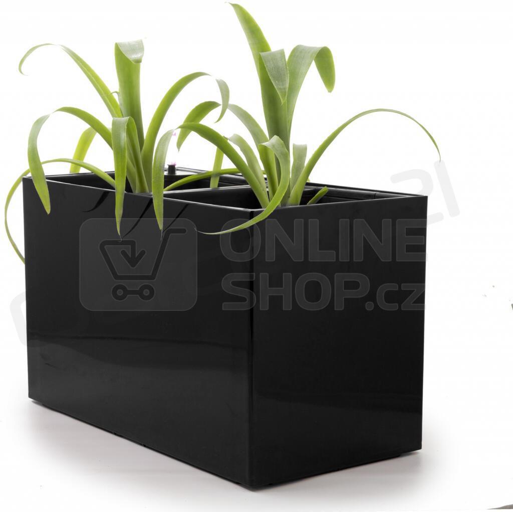 Samozavlažovací květináč G21 Combi černý 56 cm